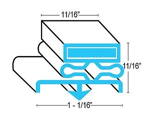 Traulsen Door Gasket Seal Profile For Refrigerator & Freezer (Need Model & Serial Number)