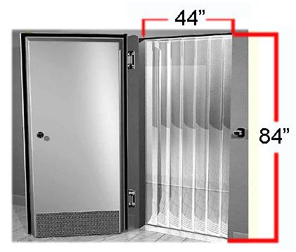 44 Quot X 84 Quot Walkin Door Curtain Amp Hardware For Cooler Quick