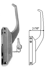 Component Hardware R35-1105XC Offset Handle Complete with key