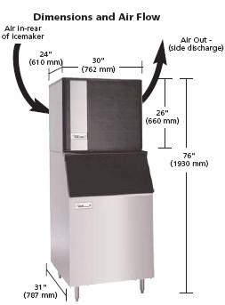 ice o matic ice 1006 ice machine ice 1006 on a b55 bin - Ice O Matic Ice Machine