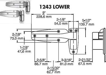 Kason 1243 Heavy Duty Hinge No Longer Available!