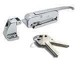 "Kason K56C-CD01 Latch With Key & Strike 3"" to 4"" Offset Chrome Finish"
