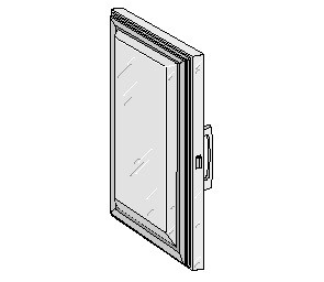 "Glenco Star Metal  5D-120001-3L    Stainless Steel Door  24-15/16"" x 63-11/16""  Edgemount"