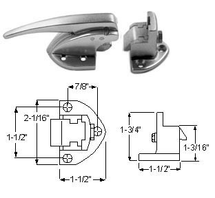 KASON 931-A01 LATCH Complete Flush To 1/8""