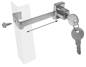 True 872801 Sliding Door Lock Assembly Ratchet Style